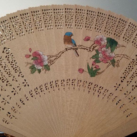 Japanese Bamboo Painted Folding Fan/Box